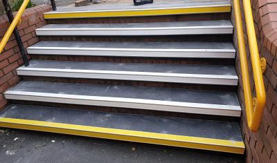 Steps and rails
